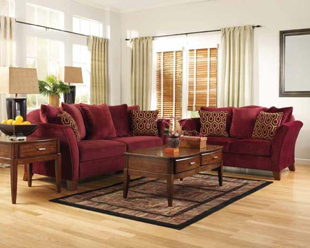 burgundy and black living room en g 252 zel fil dişi rengi ev galeri dekor sarayi 20394
